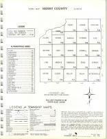 Index Map, Henry County 1965